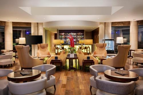 The lounge or bar area at Crowne Plaza Bucharest, an IHG Hotel