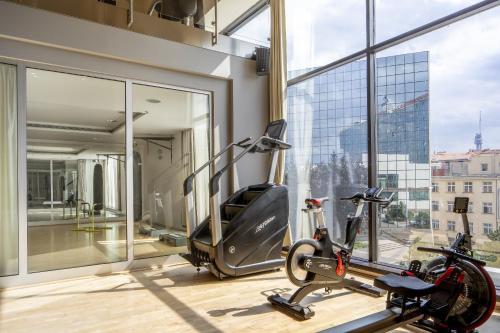 Centrum fitness w obiekcie Hilton Prague Hotel