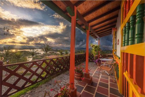 Un balcón o terraza de Hotel Zocalo Campestre