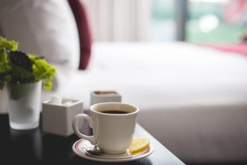 Cama o camas de una habitación en Boston Hotel Commonwealth