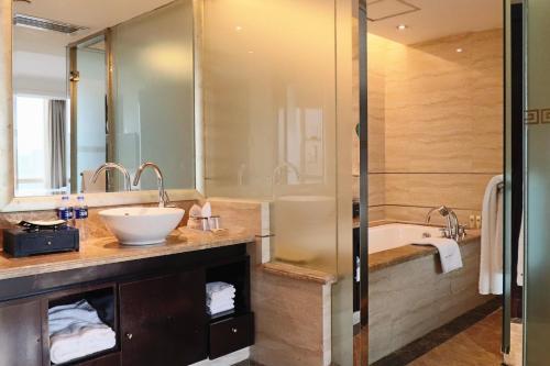 A bathroom at Royal Mediterranean Hotel
