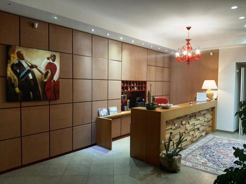 The lobby or reception area at Giga Hotel