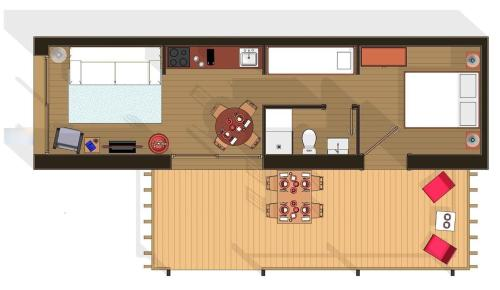 The floor plan of Cocoon Eco Design Lodges