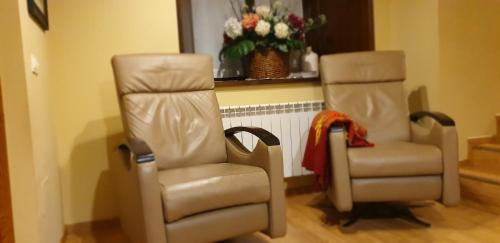 Un lugar para sentarse en Casa De Aldea La Galea