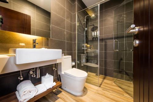 A bathroom at The Smith House