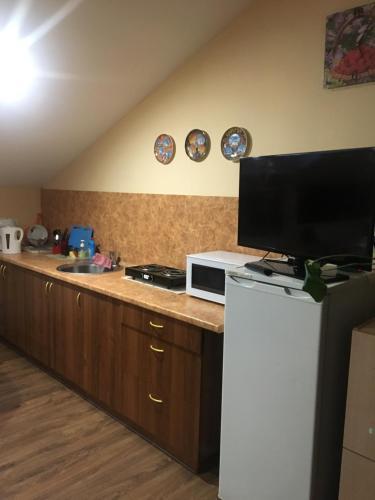 Кухня или мини-кухня в Хостел Фавор