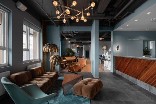 The lobby or reception area at ODDSSON Hotel