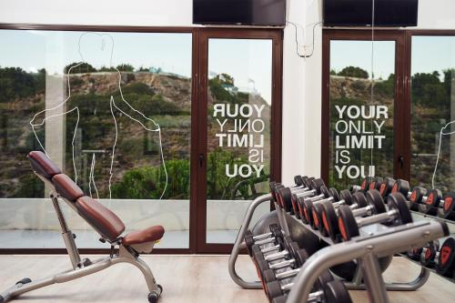 The fitness center and/or fitness facilities at Esperos Village Blue & Spa - Adults Only