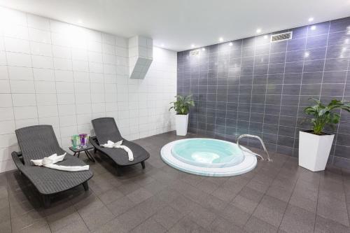 Koupelna v ubytování Hotel Vega Luhacovice
