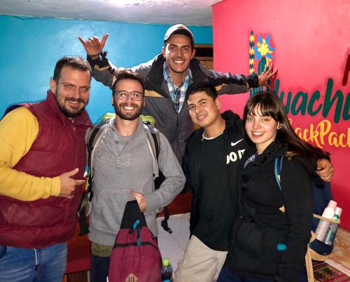 A family staying at Huachuma Guest House