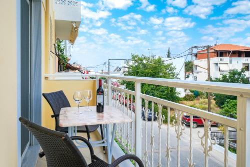 A balcony or terrace at Studios Panagiota