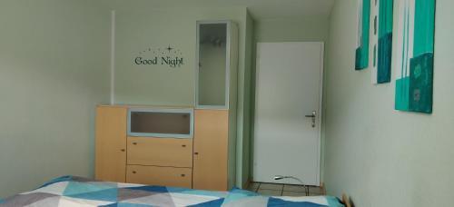 Ein Bett oder Betten in einem Zimmer der Unterkunft Ferienwohnung Christa