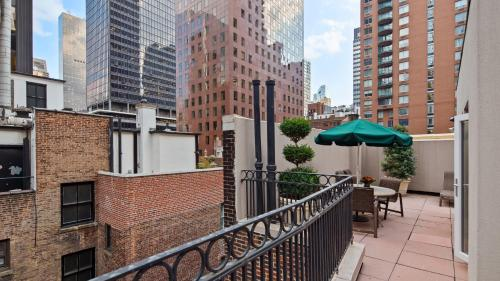 A balcony or terrace at Best Western Plus Hospitality House Suites