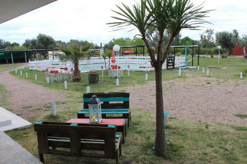 Children's play area at Posada de Campo Pura Vida