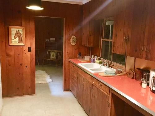 A kitchen or kitchenette at Joshua Tree Ranch House