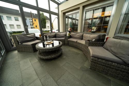 The lobby or reception area at Hotel Emshof