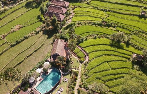 Een luchtfoto van Sawah Indah Villa