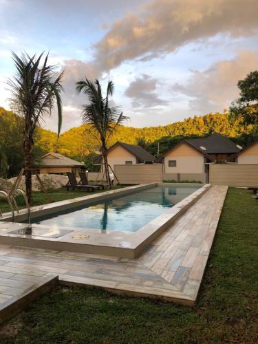 The swimming pool at or near The Temak Villa