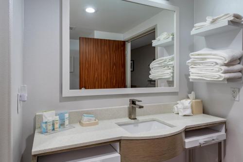 A bathroom at Hampton Inn Brownwood
