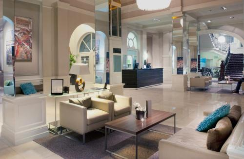 The lobby or reception area at The Met Hotel Leeds