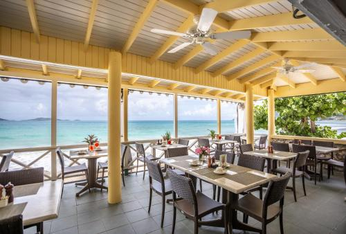 A restaurant or other place to eat at Sebastian's on the beach hotel