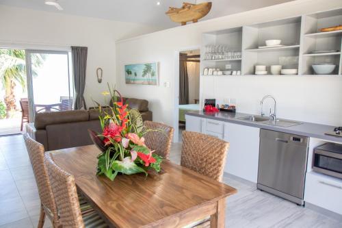 A kitchen or kitchenette at Sea Change Villas