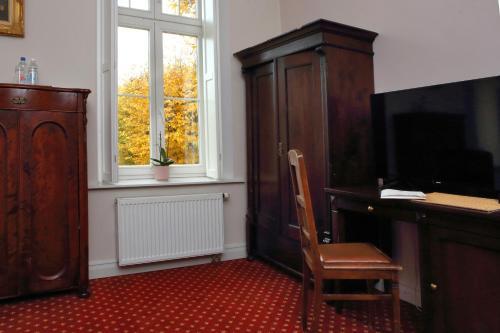 Telewizja i/lub zestaw kina domowego w obiekcie Pałac Spichrz