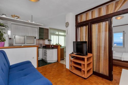 Televízia a/alebo spoločenská miestnosť v ubytovaní Apartments Bole