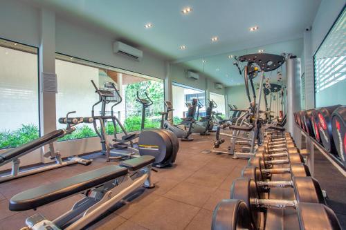 Das Fitnesscenter und/oder die Fitnesseinrichtungen in der Unterkunft AKIRA Lipe Resort