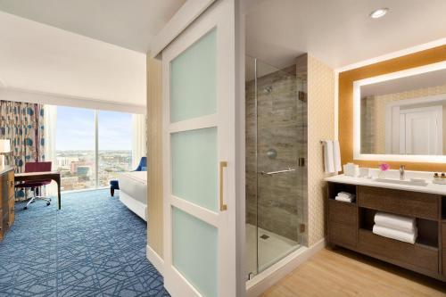 A bathroom at Fairmont Austin