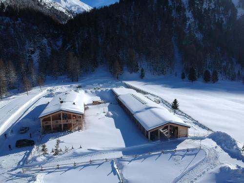 La Tresenda Hotel and Mountain Farm v zimě