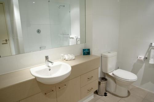 A bathroom at Quest Scarborough