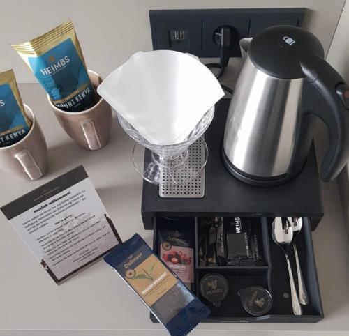 Kaffee-/Teezubehör in der Unterkunft Kranz Parkhotel