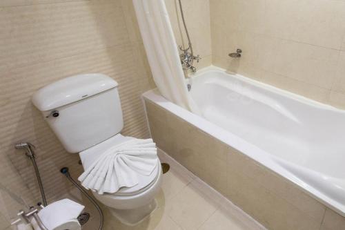 A bathroom at The Grand Sathorn