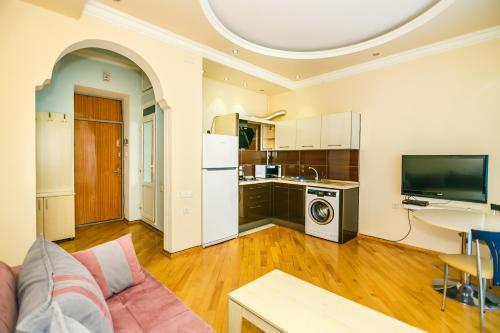 A cozinha ou cozinha compacta de Apartment in Boulevard