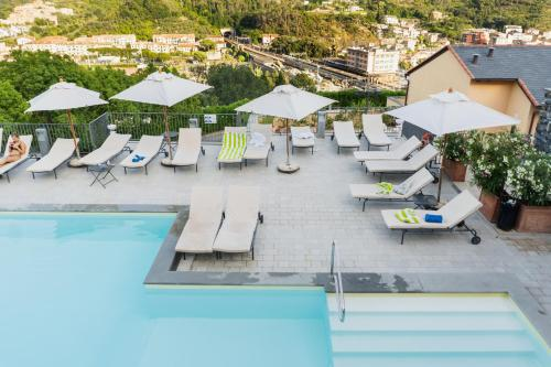 A view of the pool at Park Hotel Argento or nearby