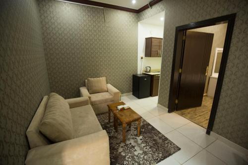 Uma área de estar em Shams Alshate