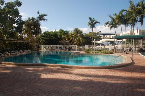 The swimming pool at or near Riverside Hotel