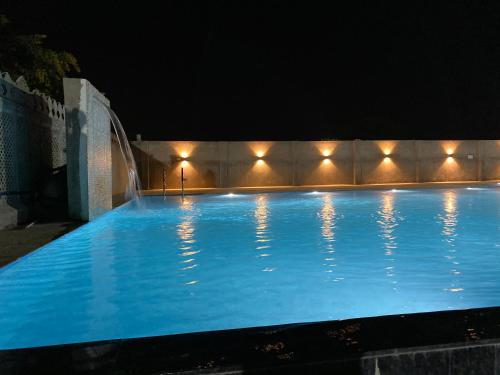 The swimming pool at or close to Roop Shree Hotel