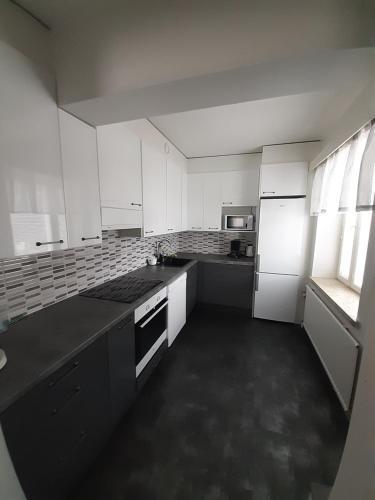 A kitchen or kitchenette at Gasthaus Patruuna