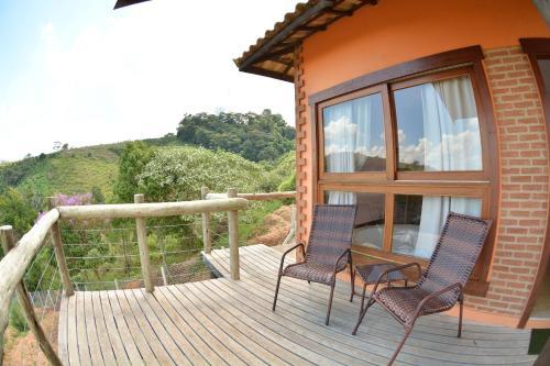 A balcony or terrace at Pousada Villa dos Leais