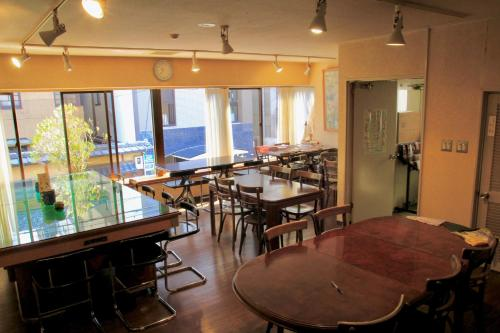 A restaurant or other place to eat at City Pension Tommy Rich Inn Kyoto
