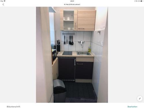 Küche/Küchenzeile in der Unterkunft lisa apartment