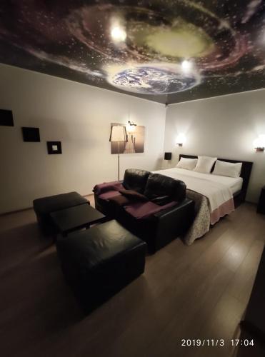 Гостиная зона в Apartment Sergey