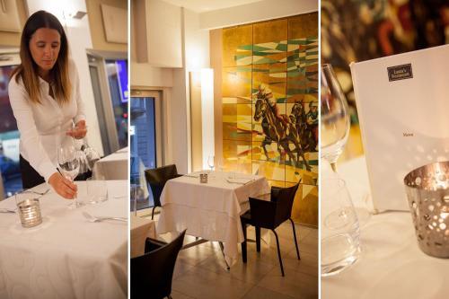 En restaurang eller annat matställe på Hotel Palio