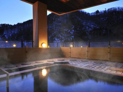 The swimming pool at or near Hanamomiji
