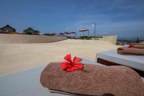 Der Swimmingpool an oder in der Nähe von Luangprabang View Hotel