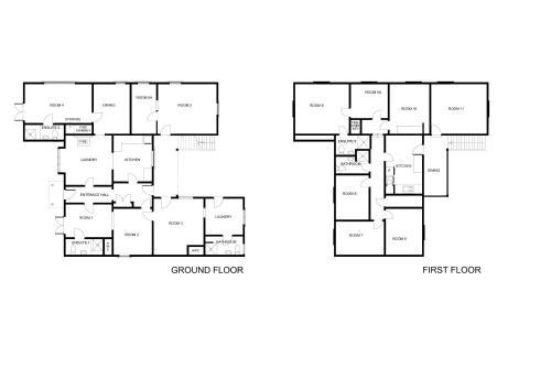 The floor plan of Chez La Mer Backpackers