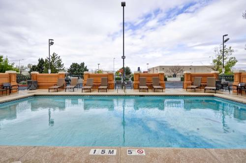 The swimming pool at or near Hyatt Place Albuquerque Uptown