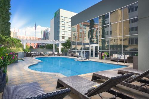 The swimming pool at or near DoubleTree by Hilton Chattanooga Downtown